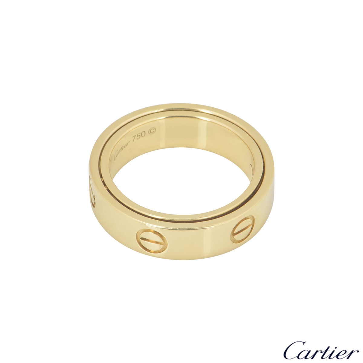 Cartier Yellow Gold Double Love Ring